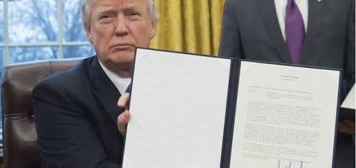 US President, Donald Trump signs bill to sanction Russia