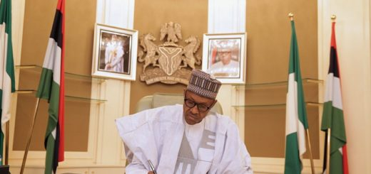 Finally Nigerian President Buhari Signs 2018 Budget
