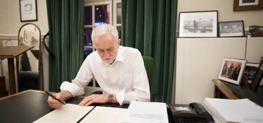"""Brexit: Corbyn saying """"he will back her on a Brexit deal if it meets five demands"""""""